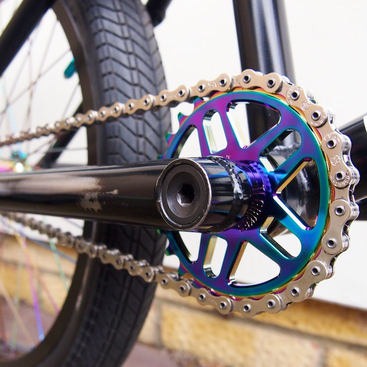 TLC 25T Racekor sprocket, machined from 7075-T6 aluminium. Available now in black and rainbow at www.tlcbikes.com #bmx #tlcbikes #bmxparts
