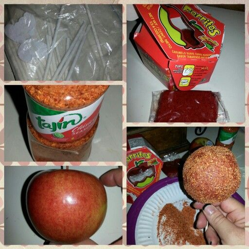 How to tamarindo covered apples #candy apples