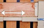 Adjustable Widths - These gate kits use a unique sleeve-system that allows the gate to be adjusted to fit the gate opening - Click to enlarge!