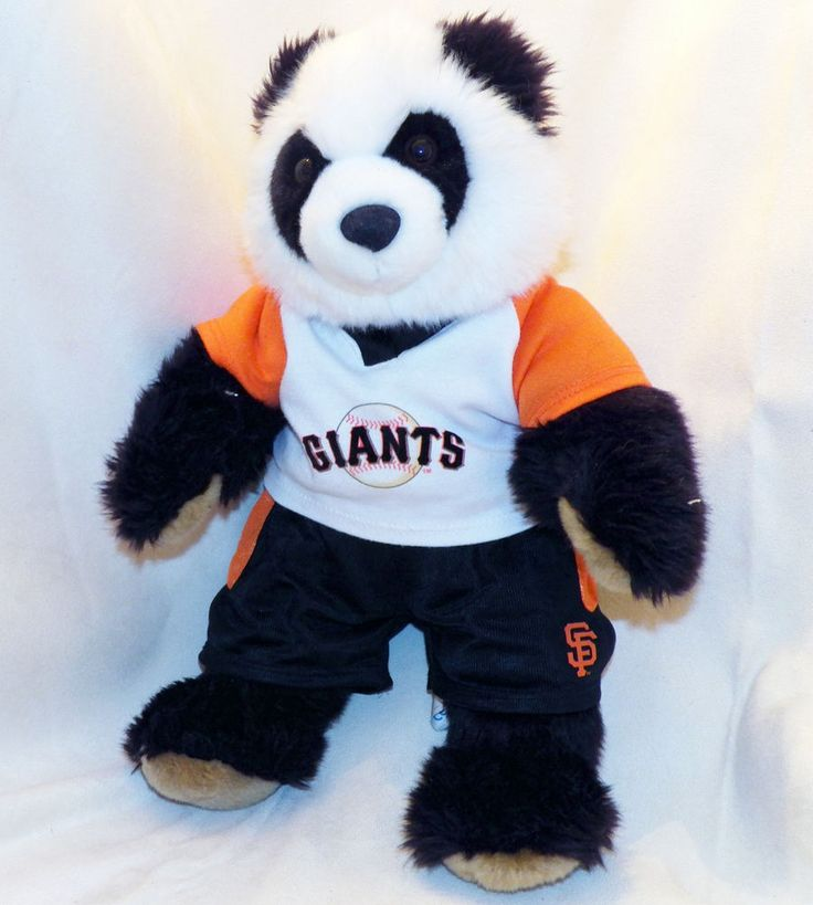 Retired San Francisco SF MLB Giants Build A Bear Plush Panda Pablo Sandoval 16in #sfgiants #BuildABearWorkshop #SanFranciscoGiants