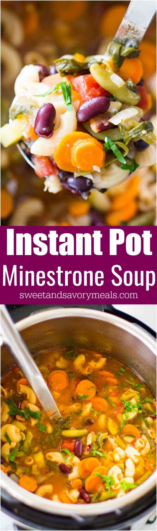 Best Instant Pot Minestrone Soup is delightfully good, tasty and healthy! Packed with so many hearty veggies and beans you can have a few bowls guilt free. #soup #minestrone #InstantPot
