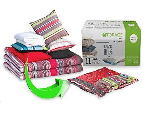 Jumbo Space Bags W/ Any Vacuum Cleaner + FREE Hand-Pump Vacuum Storage Bags #StorageVac