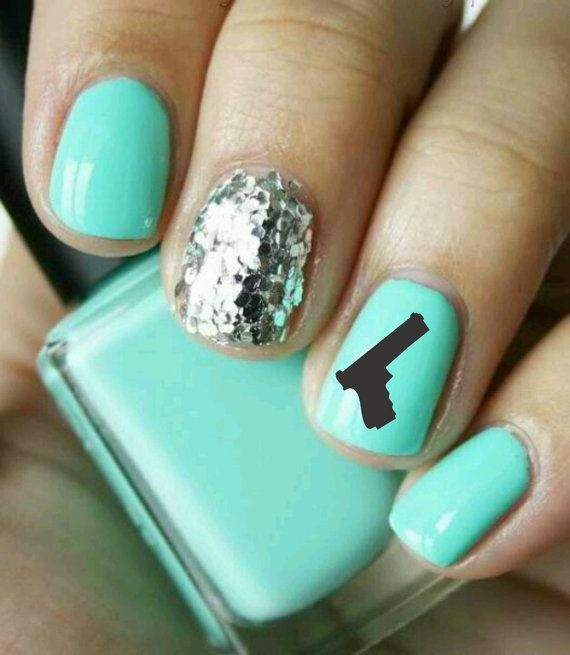 Nail Art Gun Decal By Novemberindustries On Etsy 4 50 Best Diy Projects Pinterest Nails Glitter And