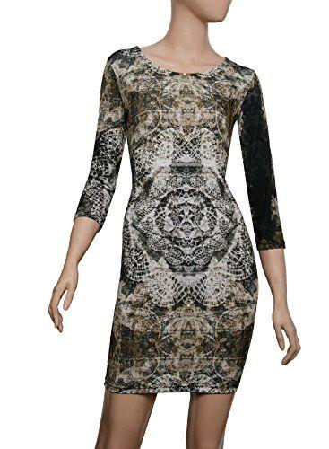 Majeclo Women's Round Neckline Boho Swing Linen Dress (P0... http://a.co/gIXdAD7