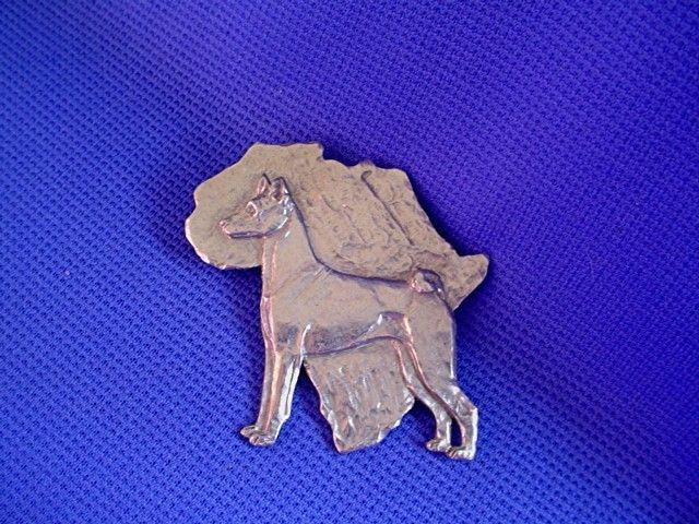 "Basenji Pin "" African "" #40G Pewter Sighthound Dog Jewelry by Cindy A. Conter"