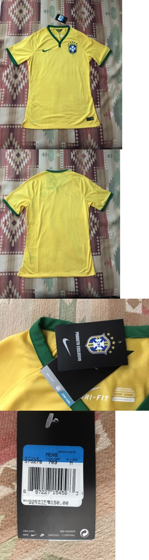 Soccer-National Teams 2891: Nike Brasil World Cup Authentic Home Soccer Jersey Player Issue Neymar Psg -> BUY IT NOW ONLY: $75 on eBay!