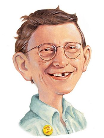Bill gates as alfred e neuman by dejarnette on deviantart