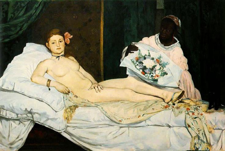 Olympia - Pinturas impressionistas pintadas por Édouard Manet