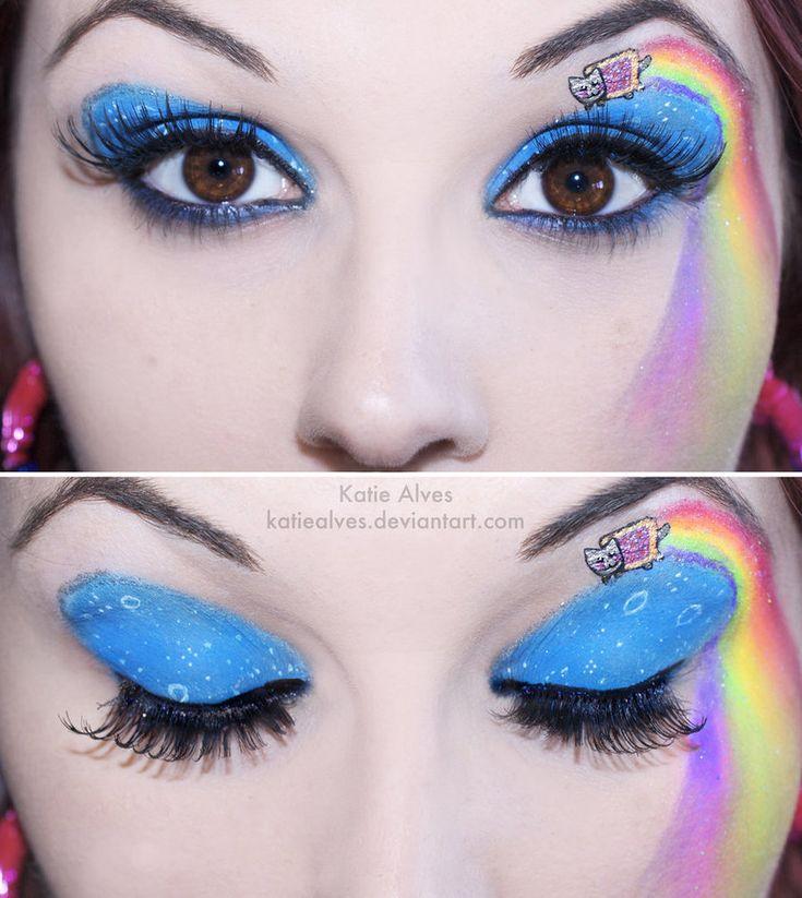 This Nyan Cat makeup tutorial is legit.