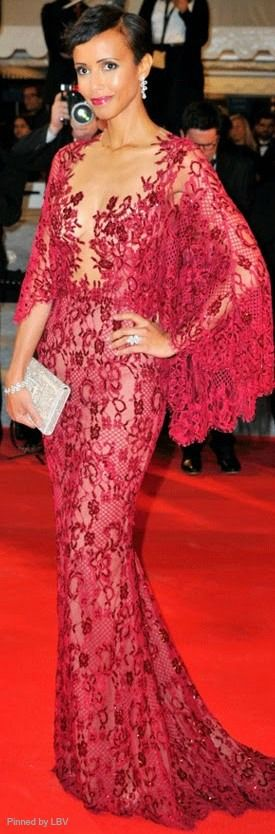 Former miss France and french actress Sonia Rolland in Zuhair Murad