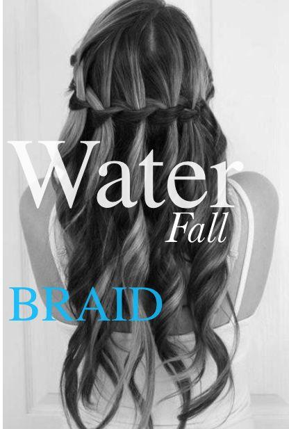 EASY water Fall braid tutorial