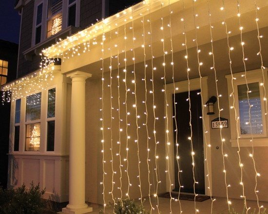 Christmas Home Decorations - LED Light Curtains and Icicles