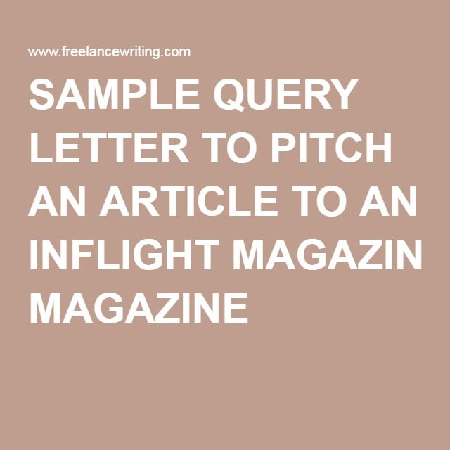 13 best Query letters images on Pinterest Cover letter example - query letter example