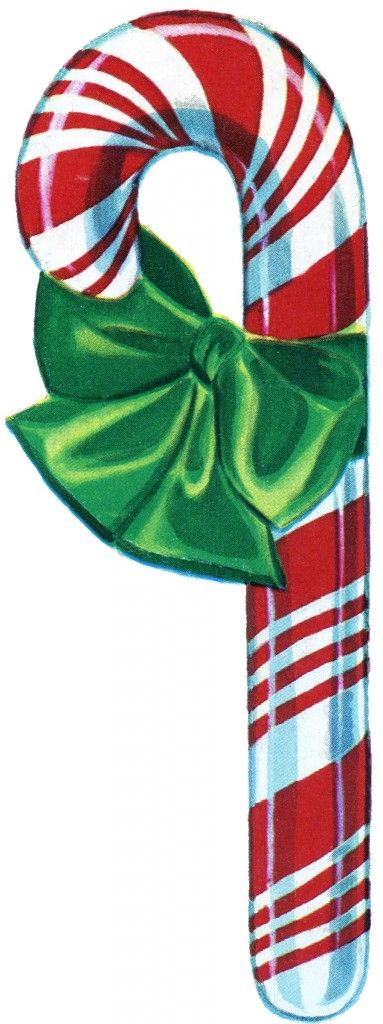 Free Vintage Christmas Clip Art Candy Cane. Great graphic to use in your Holiday Projects!