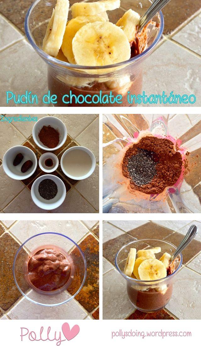 Pudín de chocolate instantáneo / Instant chocolate pudding