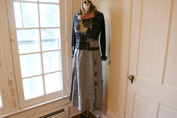 Linen Skirt / 'French Peasant Skirt' / by BreatheAgainClothing