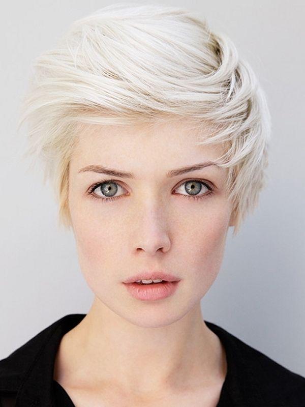 Белые волосы короткие