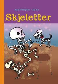 Om boka:  Artige fakta om skjelett!  Boken har stor størrelse på bokstavene, korte tekster og mye luft på sidene. Noen lange ord, men mange tegninger.  I denne boken får du vite alt du lurer på og alt du ikke visste at du lurer på om skjelett.
