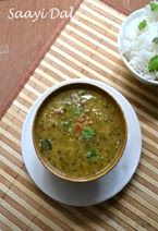 Saayi Dal or Sindhi Chilka Moong (Mung) dal is simple dal recipe made of split green gram and basic ingredients.  It's easy, simple and flavorful plus light on stomach. Sindhi Dal Chawal Recipe, Sindhi Dal Recipe, Mung Dal Recipe, Moong Dal