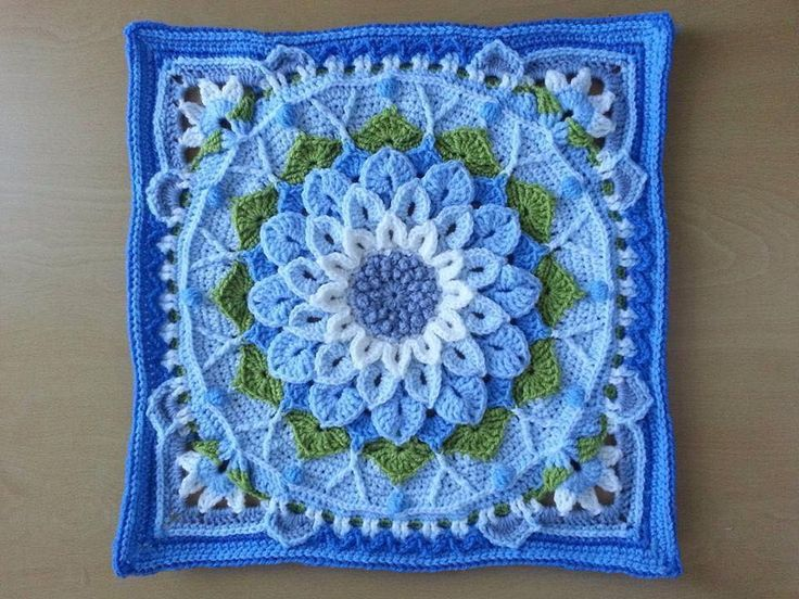 This amazing afghan block uses surface crochet and a chain-loop version of the…