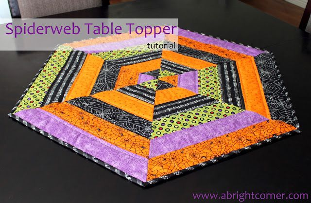 Fabric Mill: Spiderweb Table Topper Tutorial