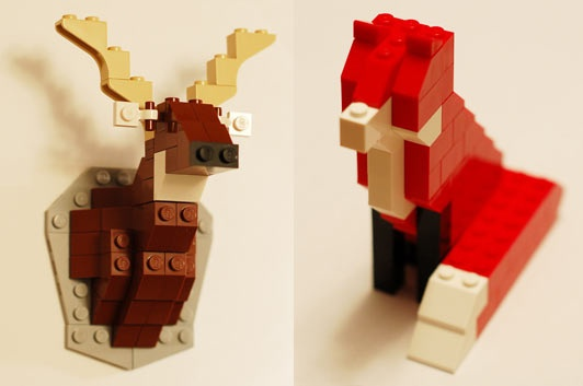 Lego Taxidermy by David Cole
