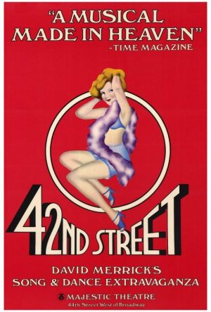 "42nd Street 27x40 Movie Poster (1981). CAST: Tammy Grimes, Jerry Orbach, Wanda Richert, Carole Banninger, Steve Belin; DIRECTED BY: Gower Champion;  Features:    27"" x 40""   Packaged with care - ships in sturdy reinforced packing material   Made in the USA  SHIPS IN 1-3 DAYS"