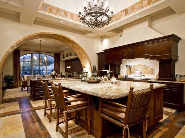Is that just a big kitchen island or another dining table for Huge kitchen designs