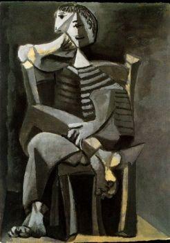 """Пикассо """"Человек в тельняшке"""""""