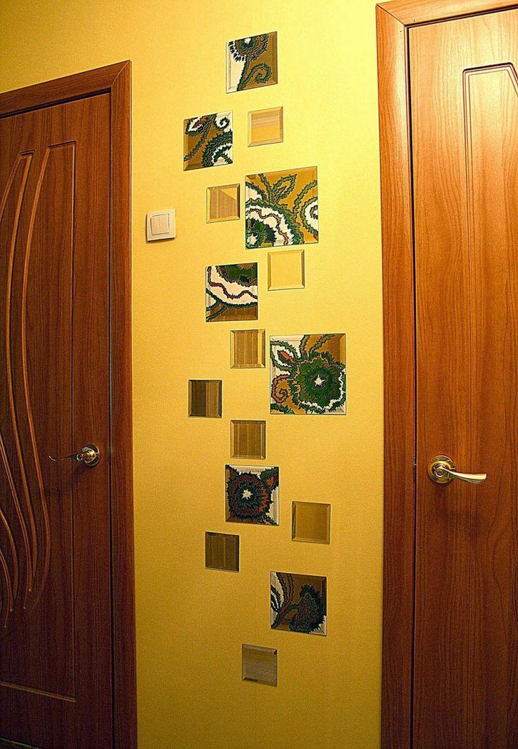 ЗЕРКАЛЬНОЕ УКРАШЕНИЕ СТЕН  Симпатичный декор стены с помощью зеркал