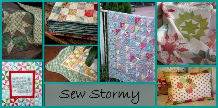 Sew Stormy tutorial links for 12 blocks of star patterns