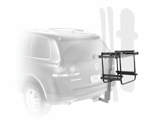 $215.95-$239.95 Baby Thule 987XT 6-Ski Adapter for Thule Hitch Mount Bike Racks - Transport your boards or skis on the back of your vehicle by attaching the Thule Hitch Ski Carrier to your existing Thule Hitch or Spare tire Carrier  The Thule 987XT 6-Ski Adapter is designed to convert your already installed hitch mount bike rack into a vertical ski and snowboard carrier. Attaching directly to yo ...