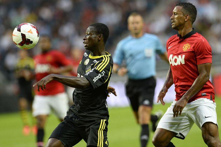 Nani challenges AIK's Ghanaian midfielder Ebeneser Ofori