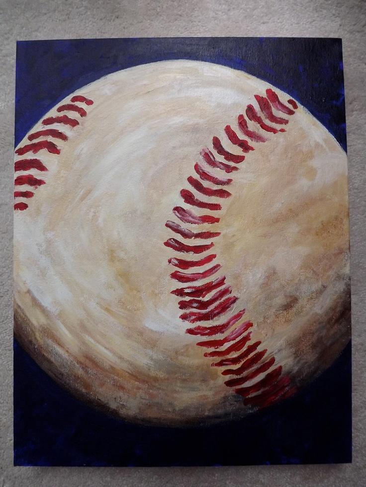 25 Best Ideas About Baseball Canvas On Pinterest