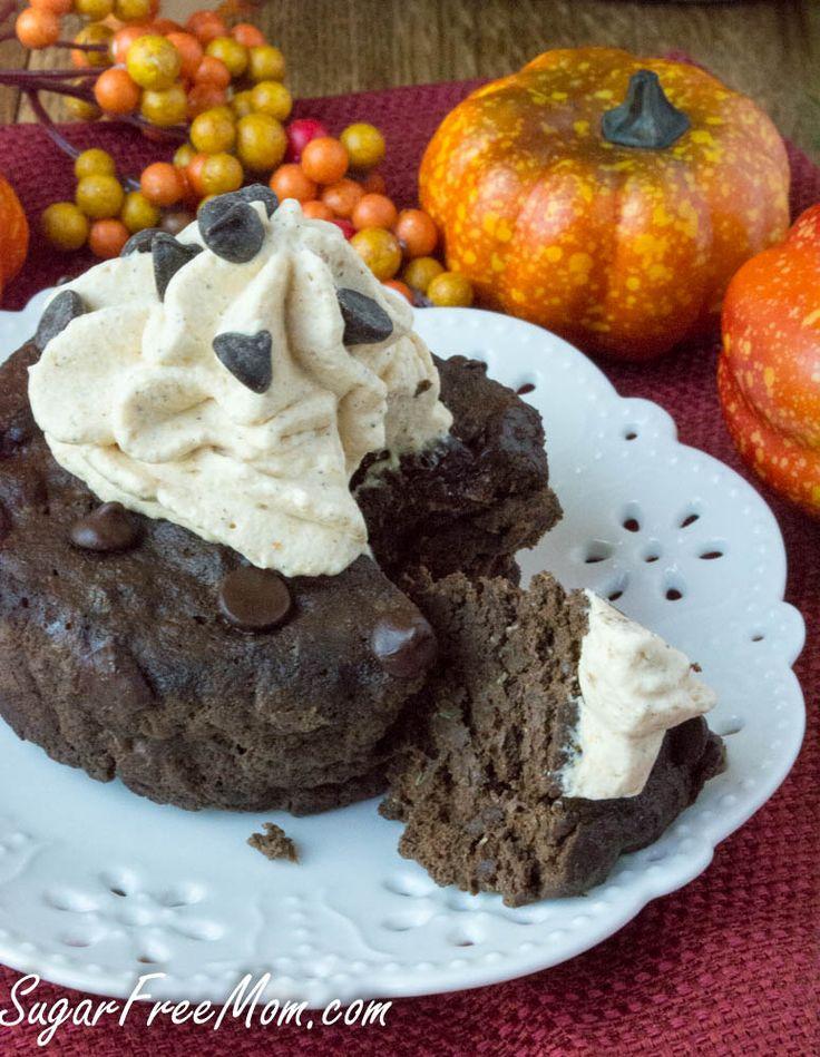 Sugar Free Low Carb Chocolate Pumpkin-Mug-Cake- sugarfreemom.com