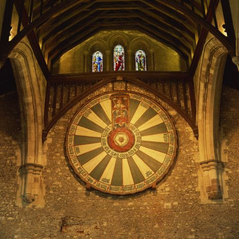 King Arthur's Round Table Mounted on Wall of Castle Hall, Winchester, England, United Kingdom    by Roy Rainford