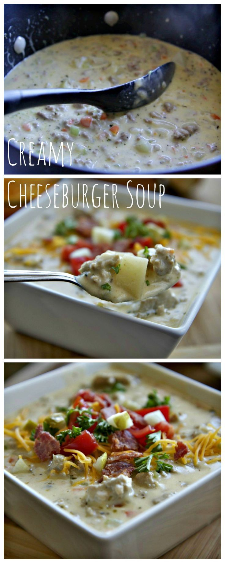 Creamy Cheeseburger Soup.