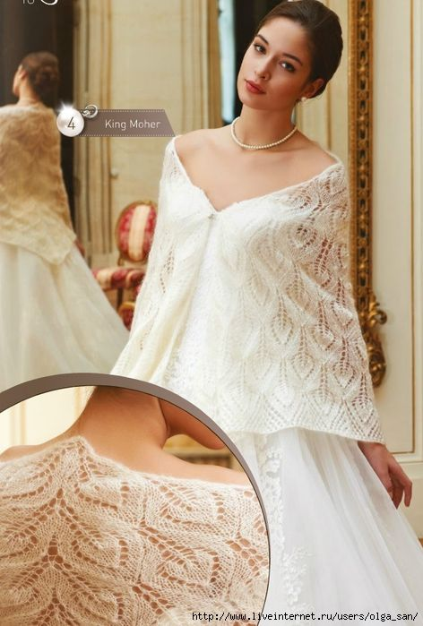 FREE Knit Lace Shawl. This is really pretty unfortunately it is in Russian and the translate doesn't seem to be working right.