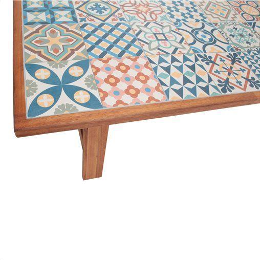 Τραπέζι Art από ακακία σε χρώμα φυσικό Μ200xΠ100xΥ75cm