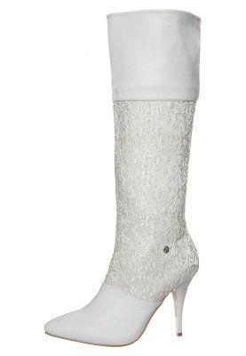 Stivali con i tacchi - bianco
