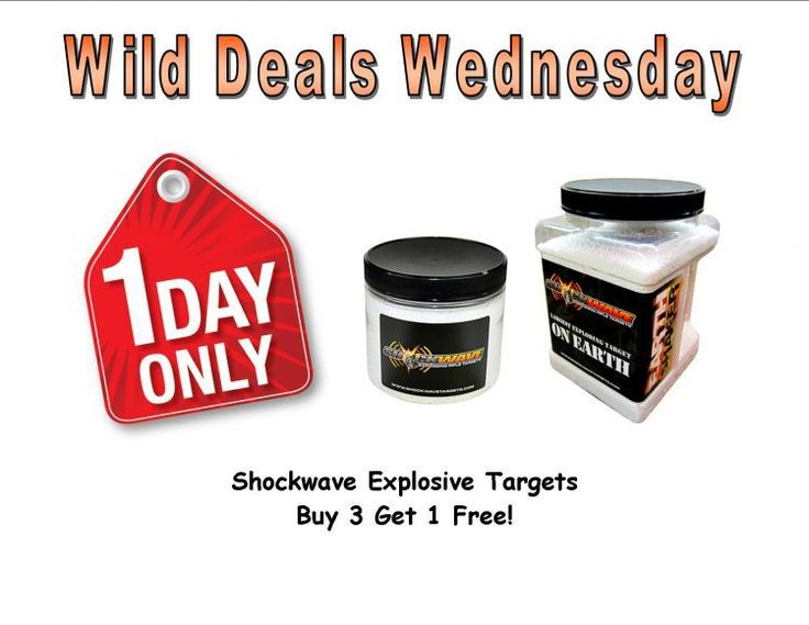 Wild Deals Wednesday - 1 Day Only - Shockwave Targets Buy 3 Get 1 Free! - http://www.gungrove.com/wild-deals-wednesday-1-day-only-shockwave-targets-buy-3-get-1-free/