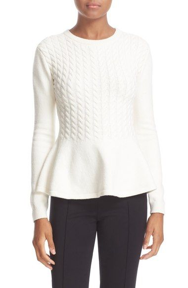 Ted Baker London 'Mereda' Cable Knit Peplum Sweater available at #Nordstrom