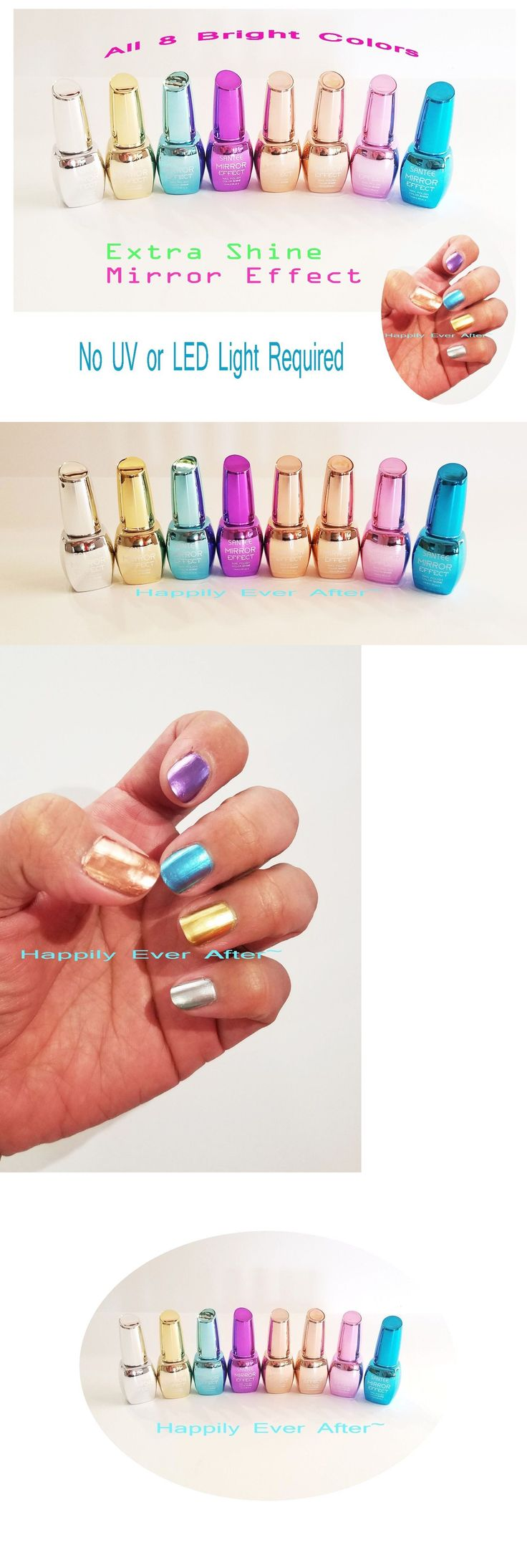 Nail Polish: Extra Shine Metallic Mirror Effect Nail Polish Santee - All 8 Colors *Us Seller* -> BUY IT NOW ONLY: $46.58 on eBay!