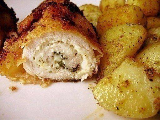 6 отметок «Нравится», 1 комментариев — 🍰🍩🍗🍕Простые Рецепты/Кулинария (@povar_bloger) в Instagram: «Рулеты из куриной грудки  Ингредиенты: ●1 двойная грудка цыплёнка ●2 плавленых сырка Хохланд с…»