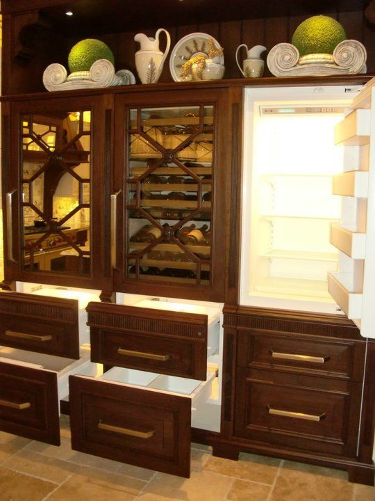 1000 images about awesome refrigerators on pinterest for Bentwood kitchen cabinets
