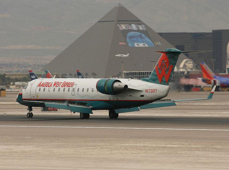 CRJ 200 landing AMERICA WEST