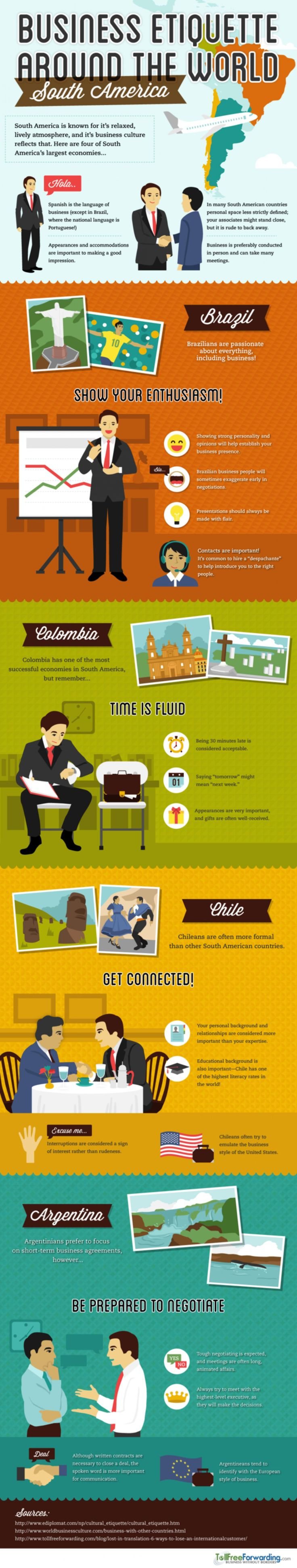#Business #Etiquette: South America