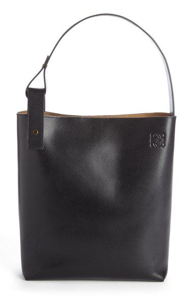 Loewe 'Medium Asymmetrical' Goatskin Leather Hobo Bag
