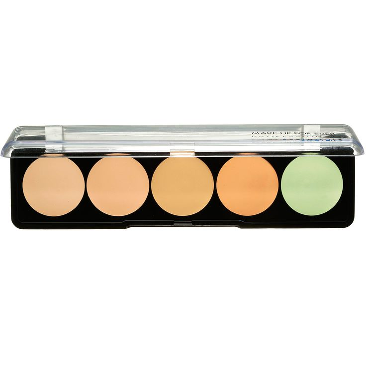 Makeup for ever 5 Camouflage Cream Palette  | Sephora ❤️❤️❤️❤️ Makeup Forever Concealer palette- great way to add some tools to your face prep.  Make-Up Forever Brand from Sephora and Ulta. They make the best concealers on earth!  Mix and match from this palette to get the perfect color for your skin tone.   The green concealer apply a little on red blemish and then apply concealer over it to cover up Staying power is incredible!