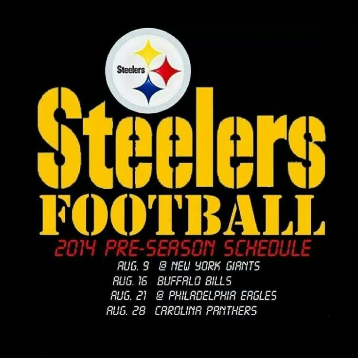 2014 Steelers preseason schedule